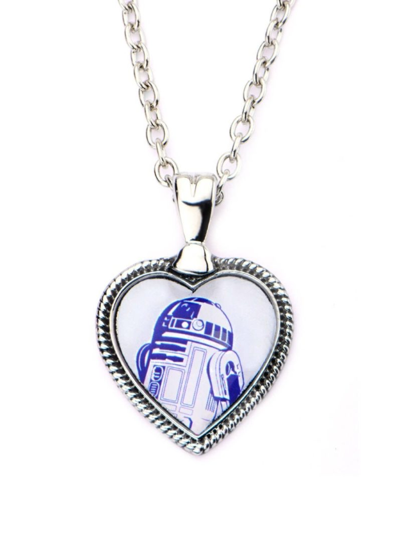 Star Wars R2-D2 heart shaped cameo necklace on Amazon