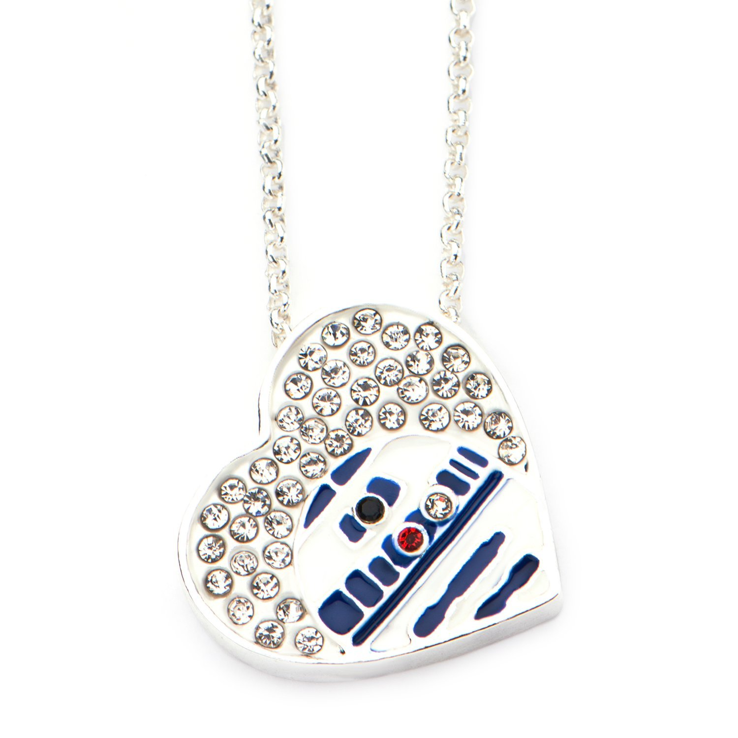Star Wars R2-D2 heart shaped crystal necklace at Amazon