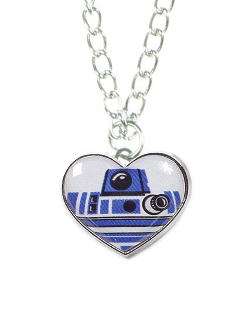 Star Wars R2-D2 heart shaped necklace on Amazon