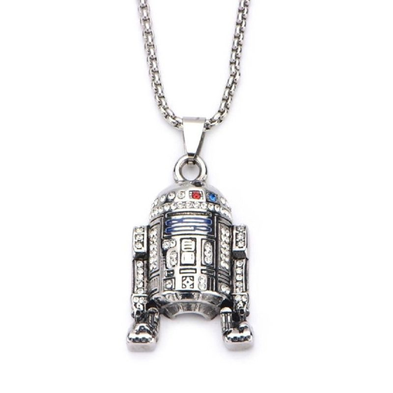 Star Wars R2-D2 rhinestone necklace at Amazon