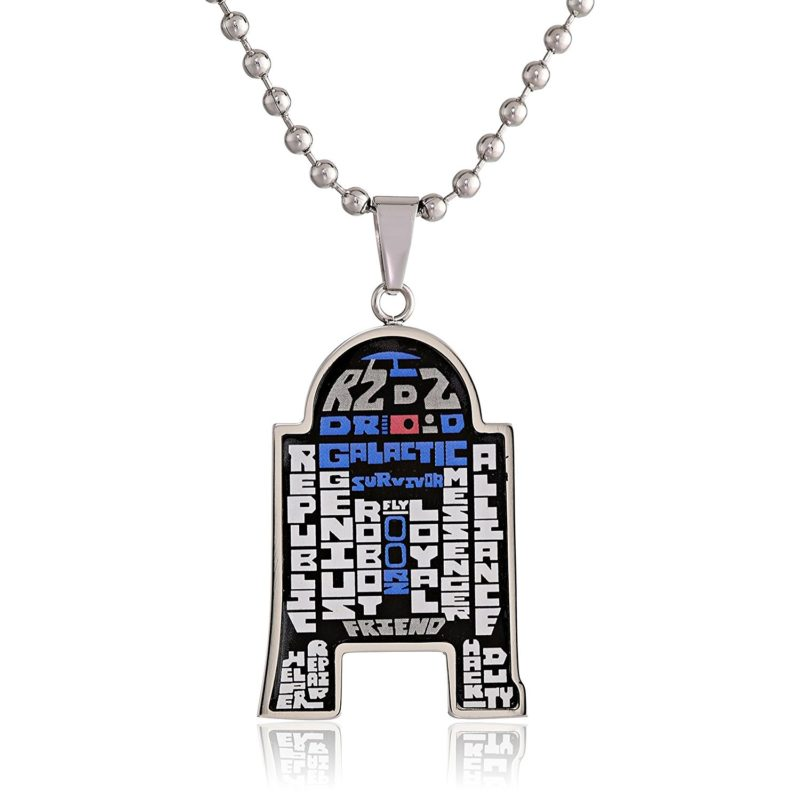 Star Wars R2-D2 typography necklace at Amazon