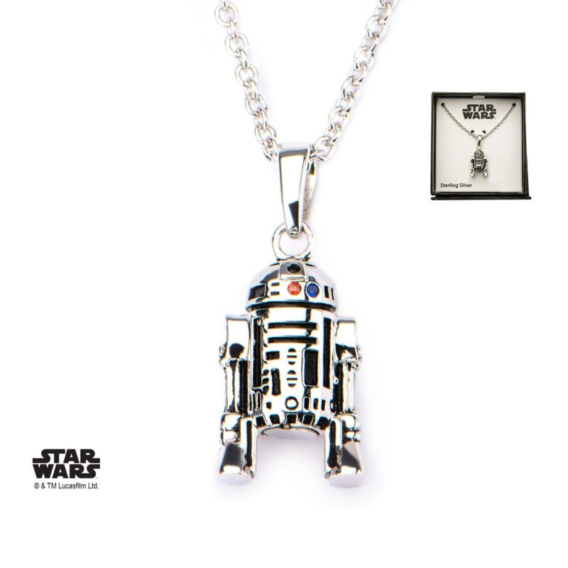 Star Wars R2-D2 Sterling Silver necklace at Amazon