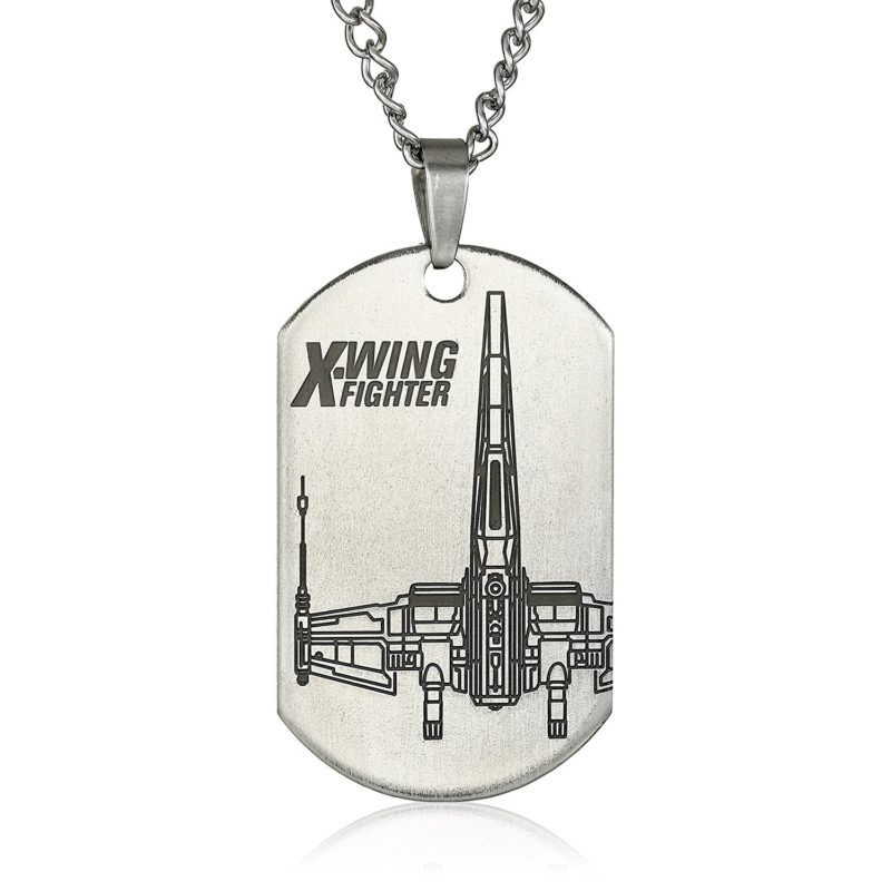 Amazon - Body Vibe x Star Wars X-Wing Fighter dog tag necklace