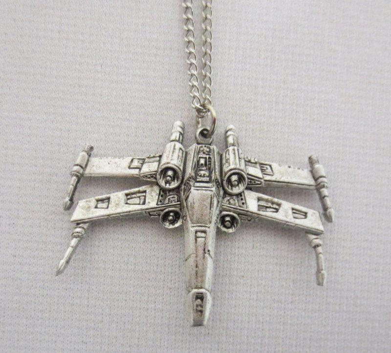 Vintage Weingeroff Star Wars X-Wing Fighter necklace
