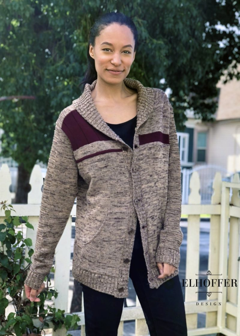 Star Wars inspired Galactic Bromance shawl cardigan by Elhoffer Design
