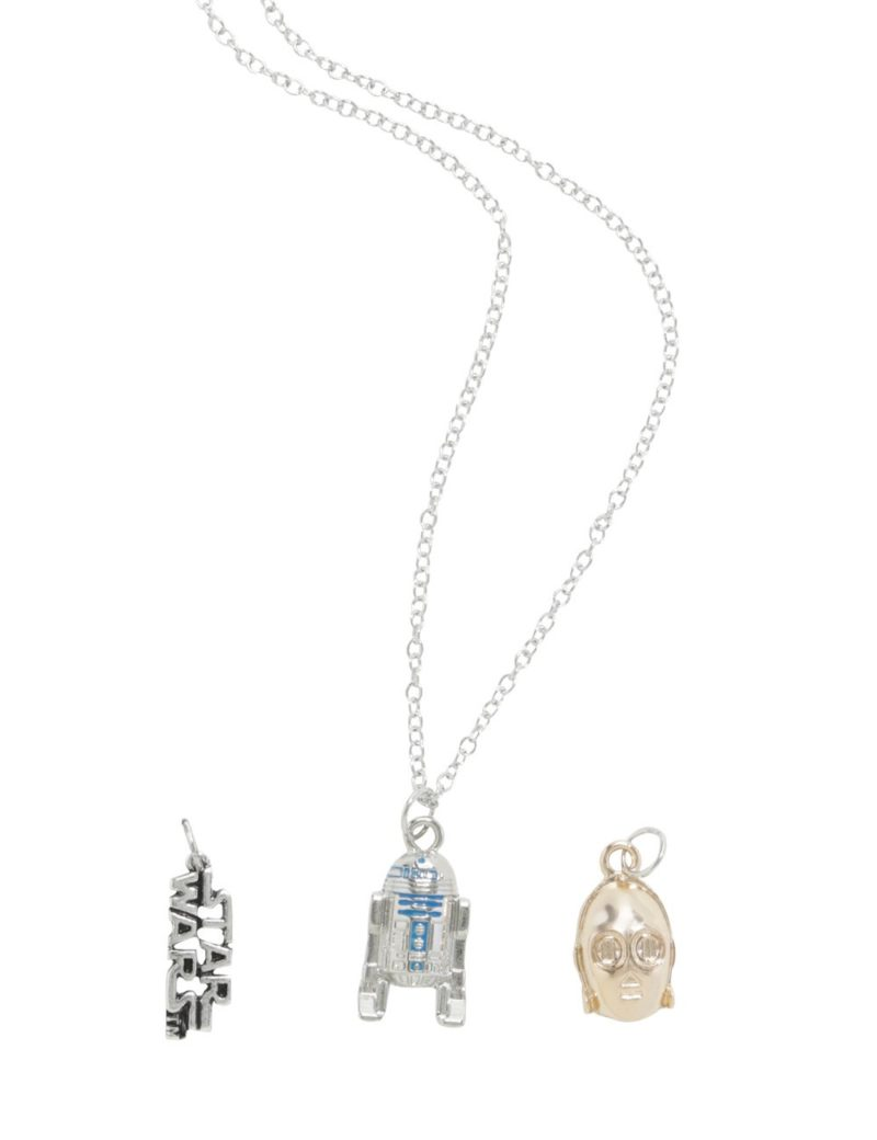 Star Wars R2-D2 and C-3PO interchangeable charm necklace at Hot Topic