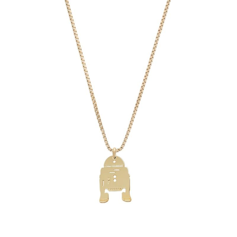 Malakai Raiss x Star Wars R2-D2 Gold plated Silver necklace