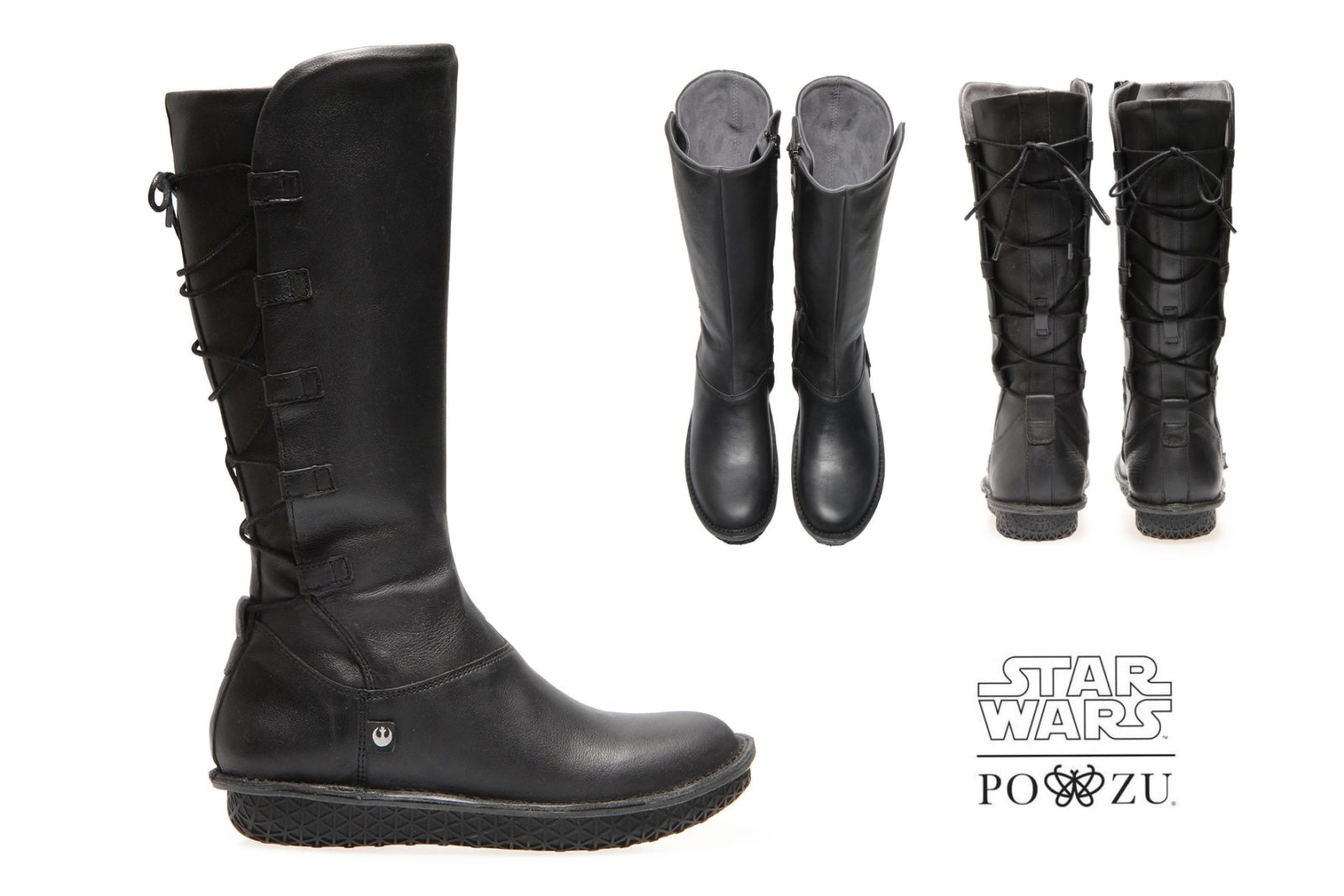 Women's Po-Zu x The Last Jedi Rey Black Boot