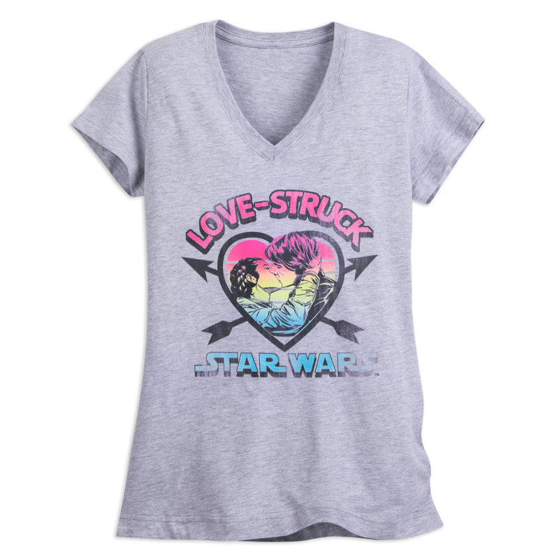 Women's Star Wars Valentine's Day themed tops at Shop Disney