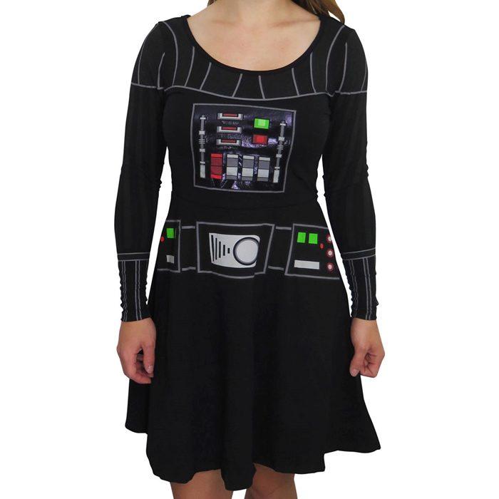 Women's Star Wars Darth Vader long sleeved skater dress at SuperHeroStuff