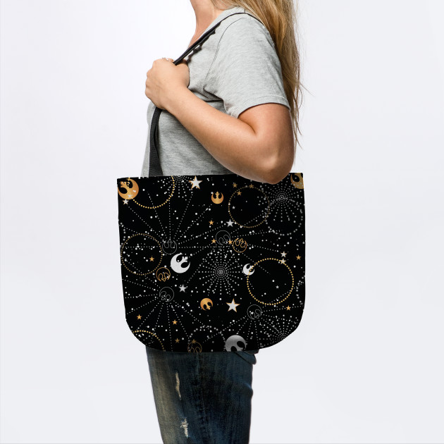 Fashion For Fans Galactic Pattern tote bag on TeePublic
