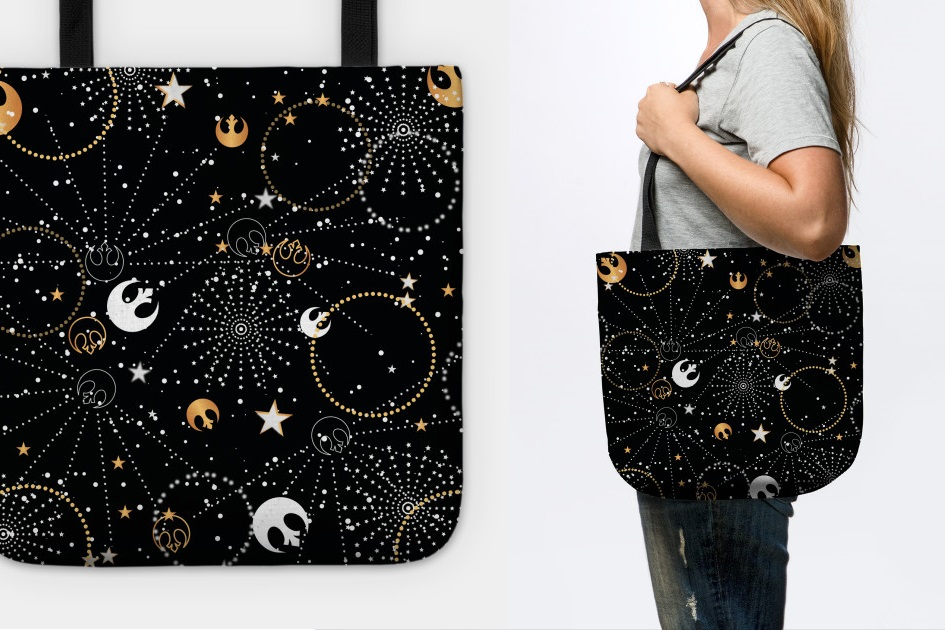 Galactic Pattern Tote Bag at TeePublic