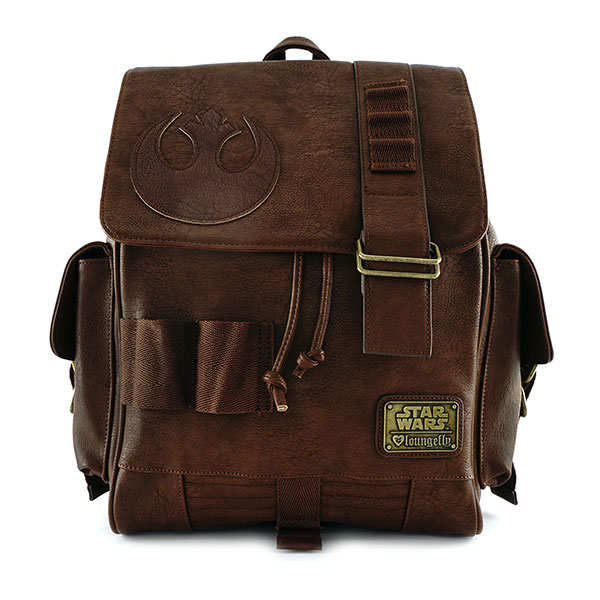 Loungefly x Star Wars Rey faux leather backpack at ThinkGeek