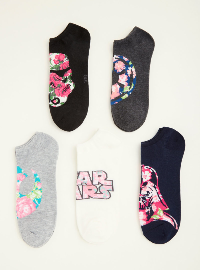 Women's Star Wars floral ankle sock 5-pack at Torrid