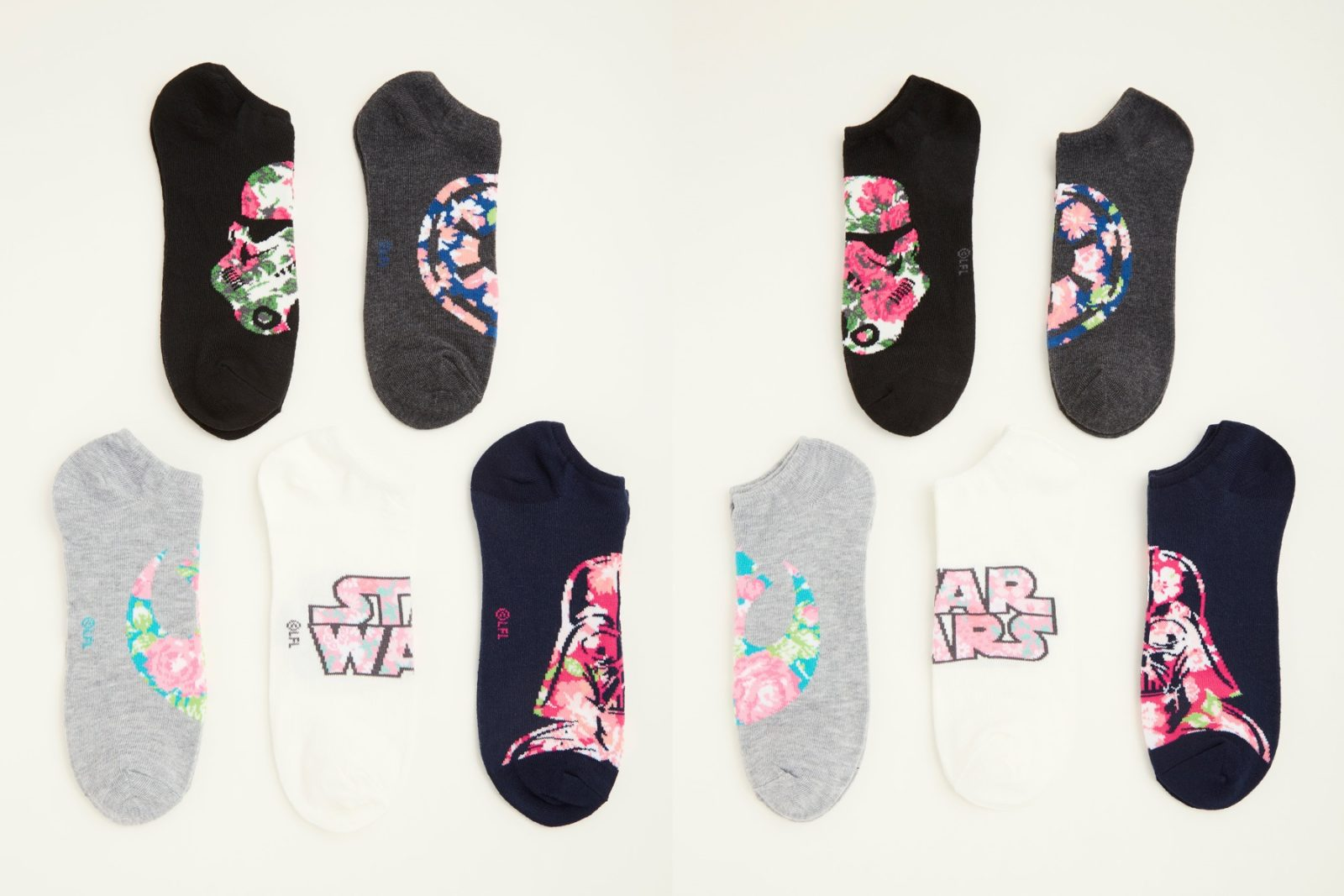 Women's Star Wars Floral Ankle Sock Pack
