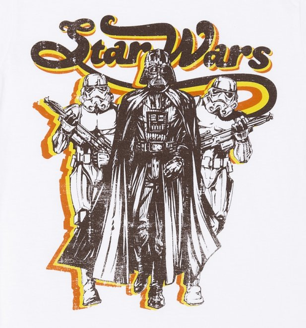 Women's Retro Star Wars Darth Vader with Stormtroopers t-shirt at TruffleShuffle