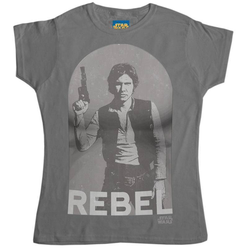 Women's Star Wars Han Solo Rebel t-shirt at 8 Ball
