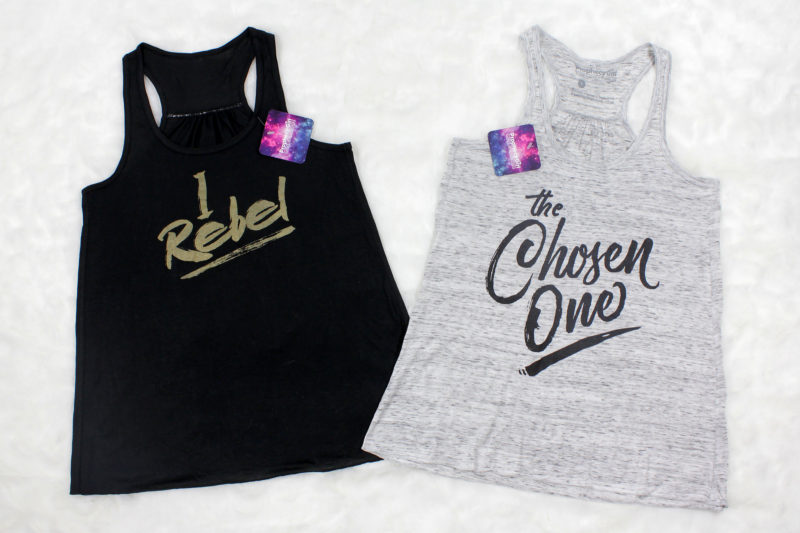 Women's Star Wars themed tank tops by Prophecy Girl