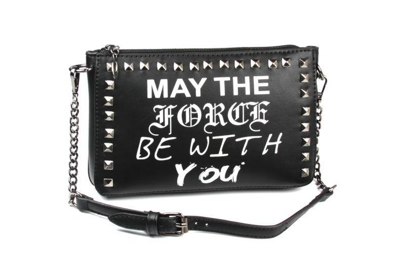 Women's Concept One x Star Wars May The Force Be With You studded punk style purse at ThinkGeek