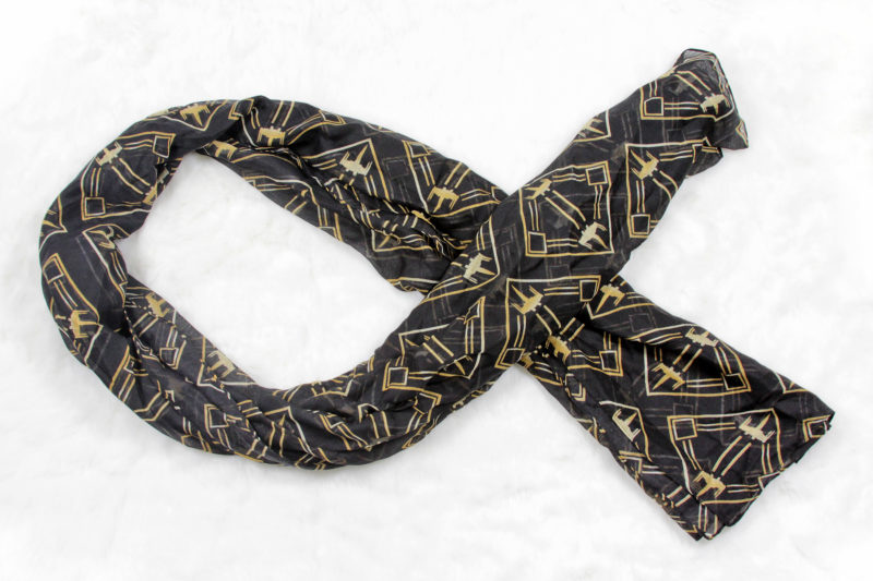 Women's Loungefly x Star Wars The Last Jedi X-Wing Fighter Art Deco lightweight fashion scarf available at ThinkGeek