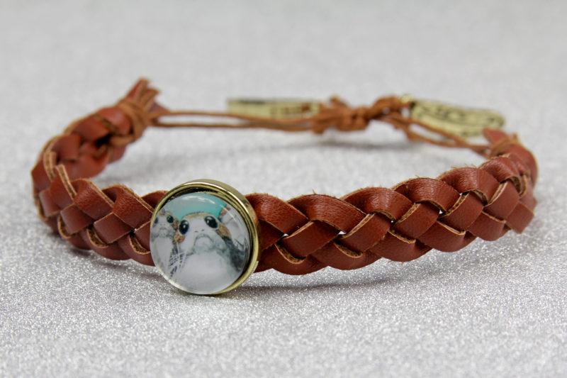 Bioworld x Star Wars The Last Jedi porg faux leather braided bracelet