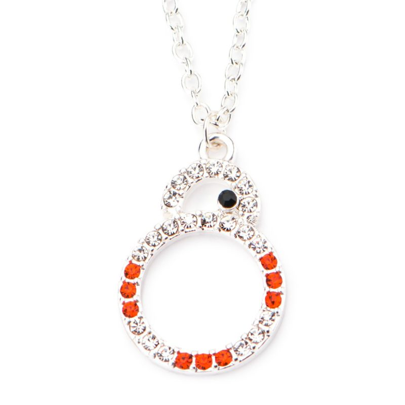 Star Wars BB-8 Silver Plated Crystal necklace at Amazon
