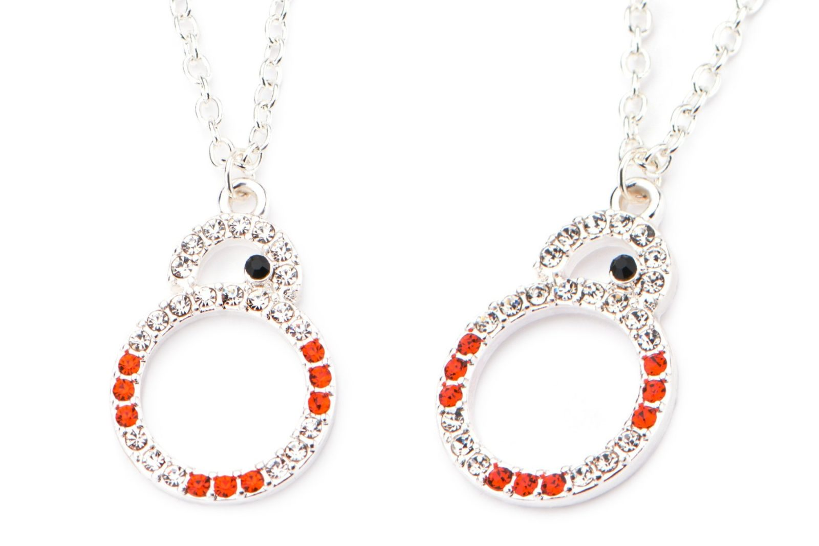 Star Wars Silver Plated BB-8 Crystal Necklace