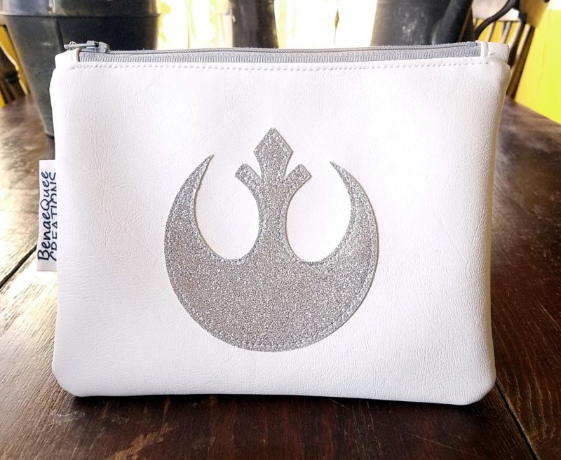 Star Wars inspired Glitter for Carrie Princess Leia Vinyl Zippered Pouch by BenaeQuee Creations on Etsy