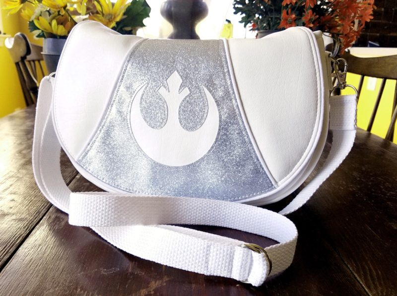 Star Wars inspired Glitter for Carrie Princess Leia Vinyl Shoulder Bag by BenaeQuee Creations on Etsy