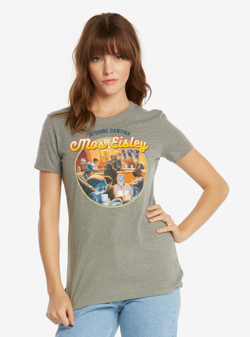 Women's Star Wars Tatooine Cantina t-shirt available exlusively at Box Lunch - Artwork by Ralph McQuarrie