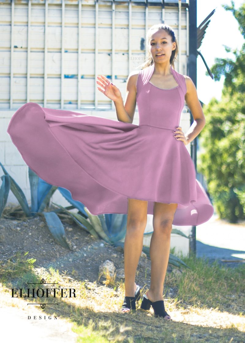 Star Wars Vice Admiral Amilyn Holdo inspired Galactic Commander dress in Dusty Pink by Elhoffer Design