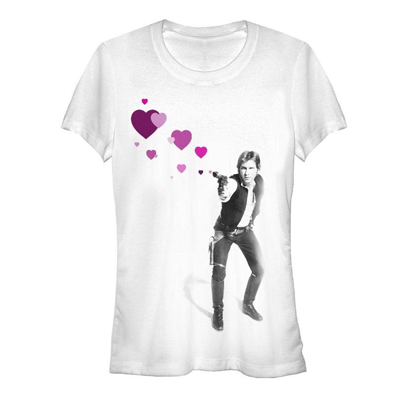 Women's Fifth Sun x Star Wars Han Shot Hearts t-shirt