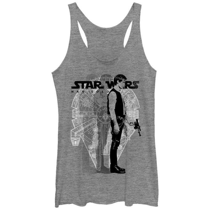 Women's Fifth Sun x Star Wars Millennium Falcon Han Solo tank top