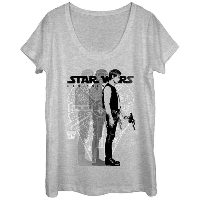 Women's Fifth Sun x Star Wars Millennium Falcon Han Solo t-shirt