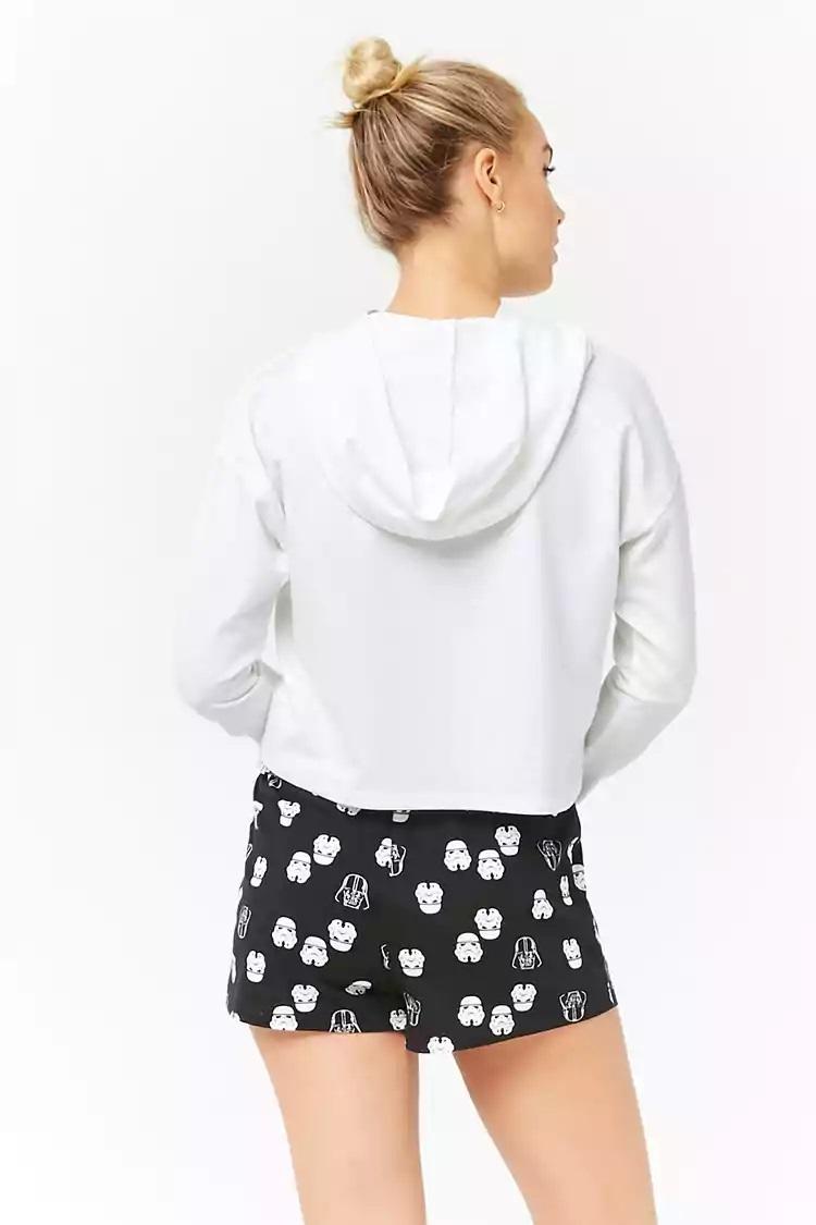 Women's Star Wars logo pyjama hoodie at Forever 21