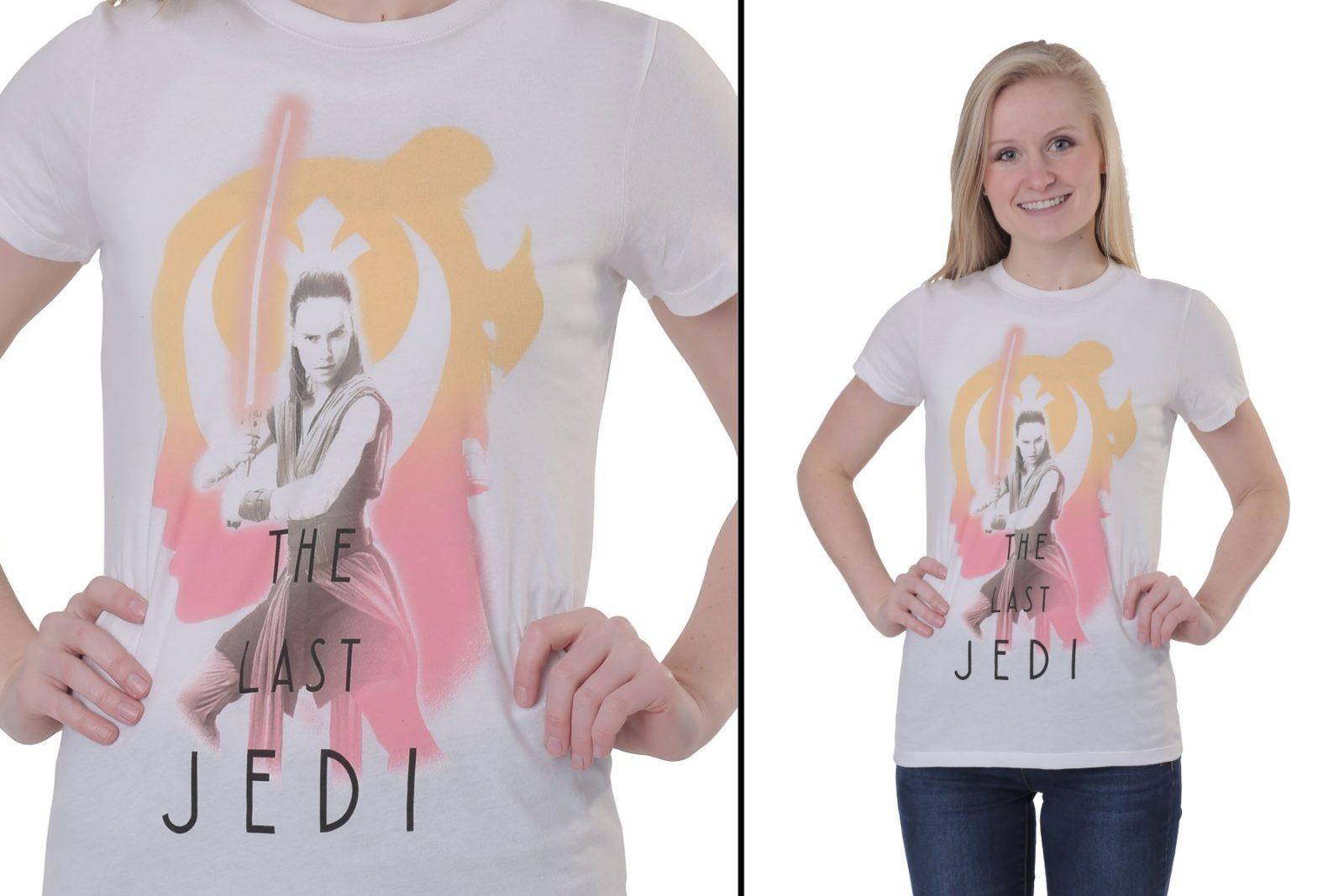 Women's The Last Jedi Rey T-Shirt at Fun