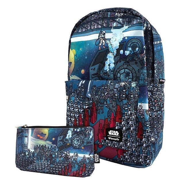 Emerald City Comic Con Loungefly x Star Wars convention exclusive backpack and matching pencil case/cosmetic bag