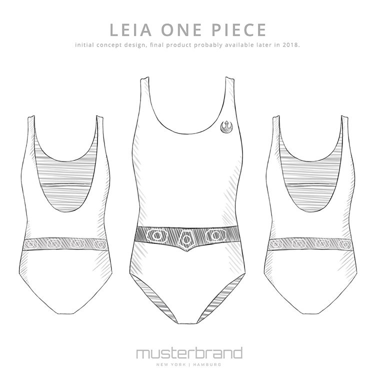 Women's Musterbrand x Star Wars Princess Leia one piece swimsuit