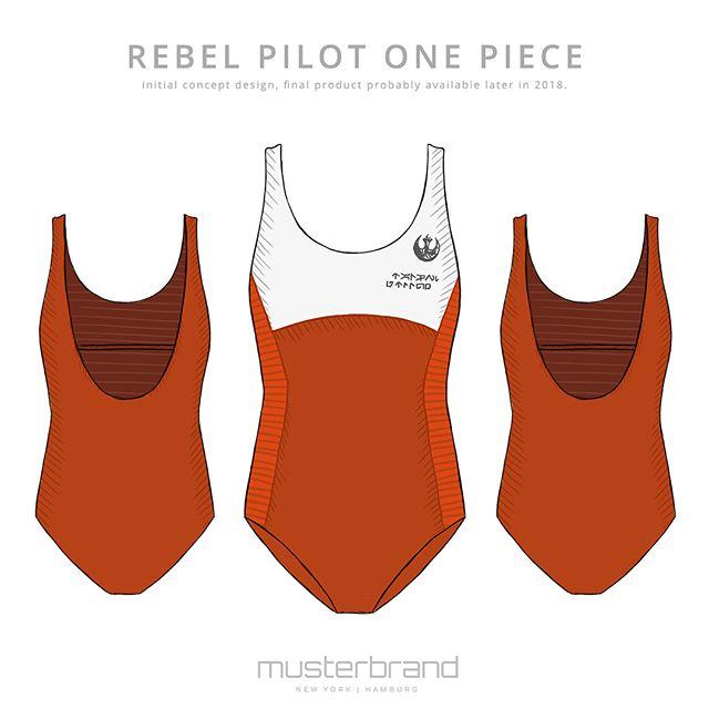 Women's Musterbrand x Star Wars Rebel Pilot one piece swimsuit