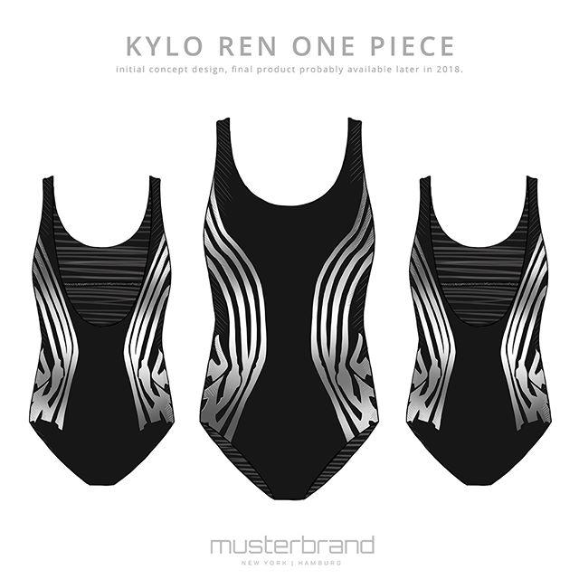 Women's Musterbrand x Star Wars Kylo Ren one piece swimsuit