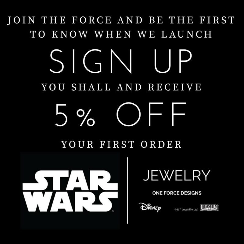 One Force Designs x Star Wars Jewelry coming soon