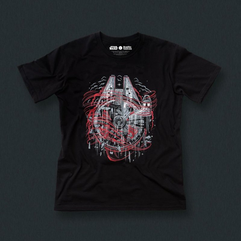 Radio Velvet x Star Wars The Last Jedi artist t-shirts