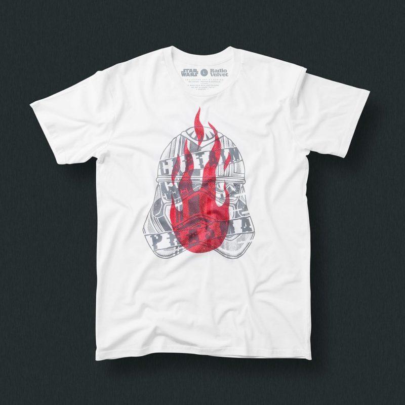 Radio Velvet x Star Wars The Last Jedi artist t-shirts