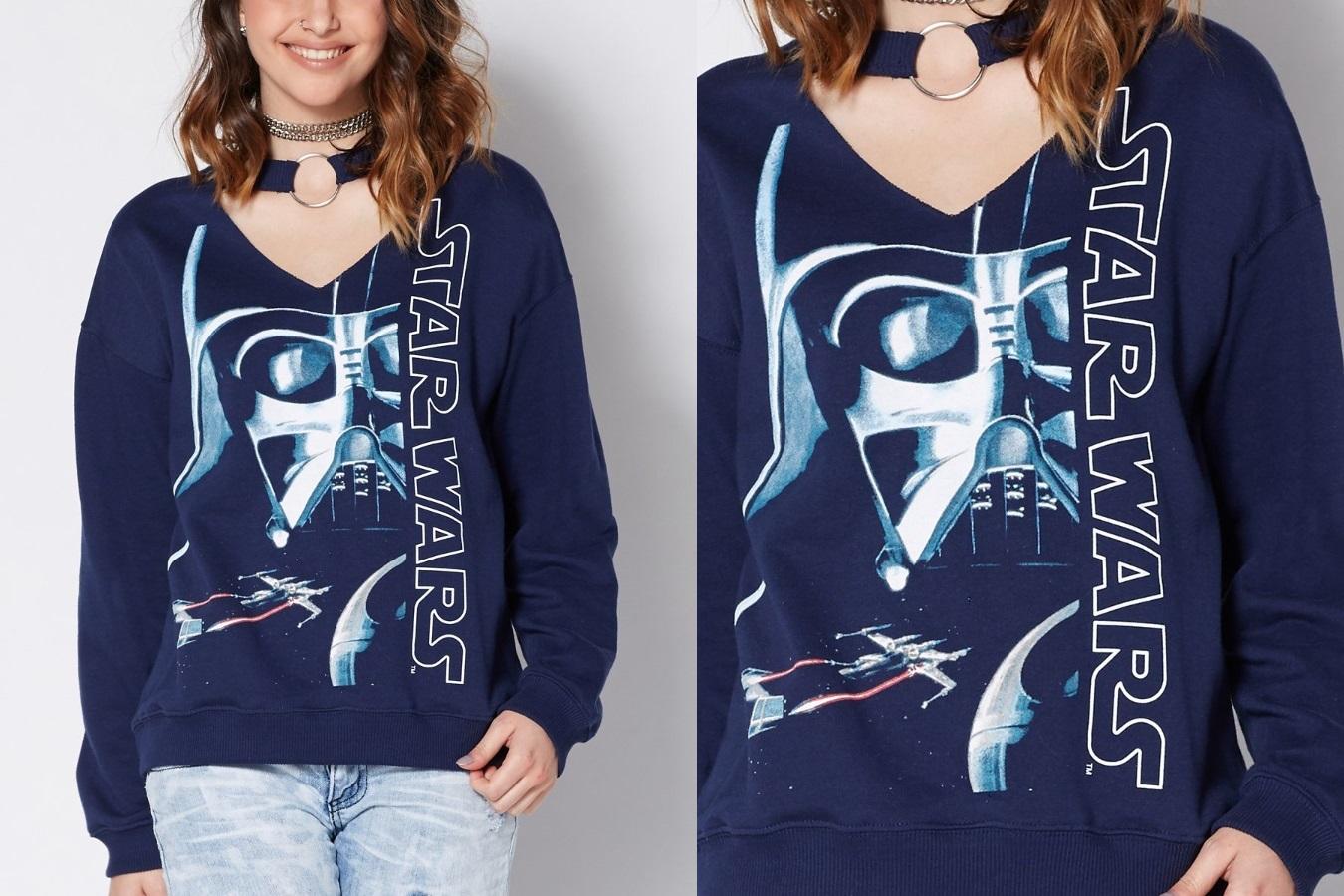 Women's Darth Vader Choker Sweatshirt