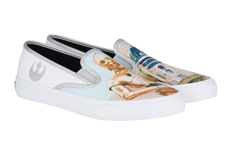 New Sperry x Star Wars Footwear Collection Now Available - The Droids Cloud Slip-On Shoe