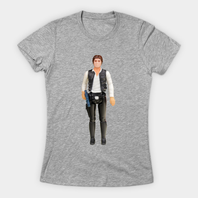 Women's Han Solo Vintage Action Figure t-shirt at TeePublic