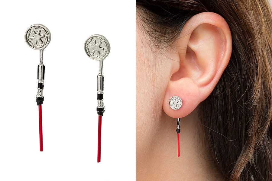 Darth Vader Lightsaber Dangle Earrings