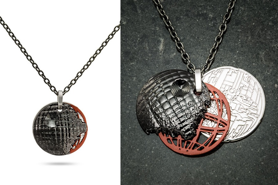 Star Wars Death Star Stacked Pendants Necklace