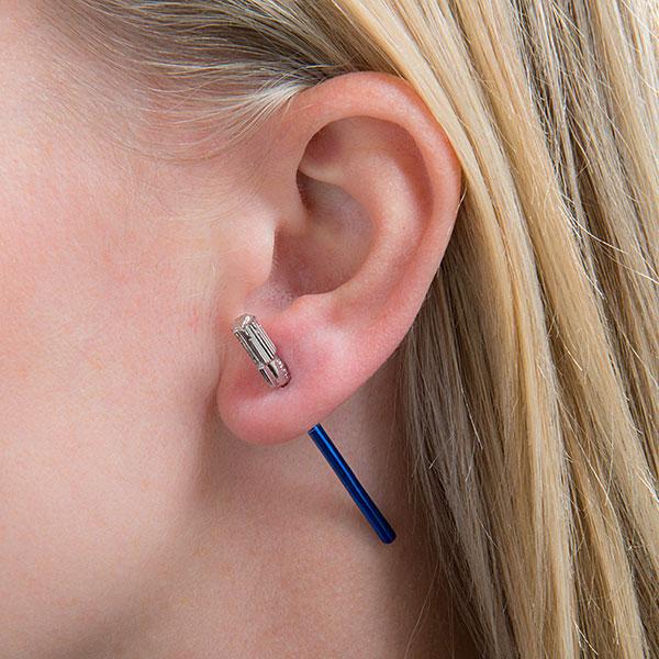 Star Wars Luke Skywalker Lightsaber ear jacket earrings at ThinkGeek