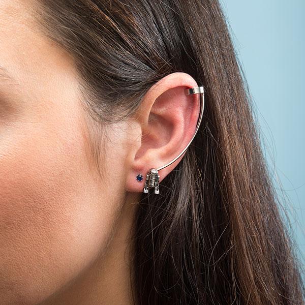 Star Wars R2-D2 earring cuff set at ThinkGeek